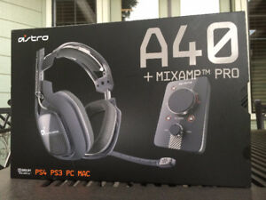 Astro A40 PS4/PC headset with mixamp/original packaging