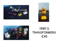 ORIGINAL 1980'S TRANSFORMERS