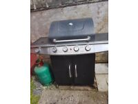 Michigin 4burner gas barbecue with side burner and 2 full gas bottles
