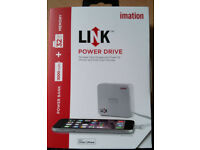 Imation Link Power Drive - 32GB Memory + 3000maH battery (lightening connector)
