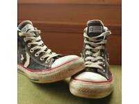 Converse Star Player's in Mid Black and White