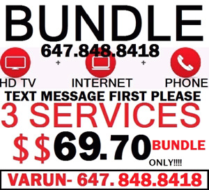 UNLIMITED INTERNET + HD CABLE TV 140 CHANNELS + PHONE $69 WOW
