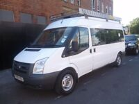 Ford TRANSIT 100 TDI,12 seat Mini Bus,RWD,FSH,full roof rack,rear luggage compartment