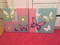 kids rooms butterfly canvas