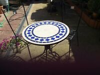 Cast Iron Garden Table & 2 Chairs
