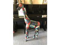 Garden Statue Ornament Sculpture Large Metal Animal Giraffe Tall 128cm (Hand Crafted)