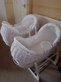 2 mamas and pappas immaculate moses baskets