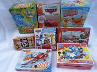 Bundle of 8 Boxed Toys, Disney Car games / puzzles, Elefun, Beano Ball maker, Mickey Mouse, Frogio