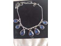Opal blue artificial jewellery