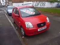 Kia PICANTO,999 cc 5 door hatchback,very clean tidy car,runs and drives very well,cheap motoring,87k