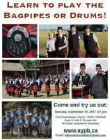 Edmonton Youth Pipe Band Information night