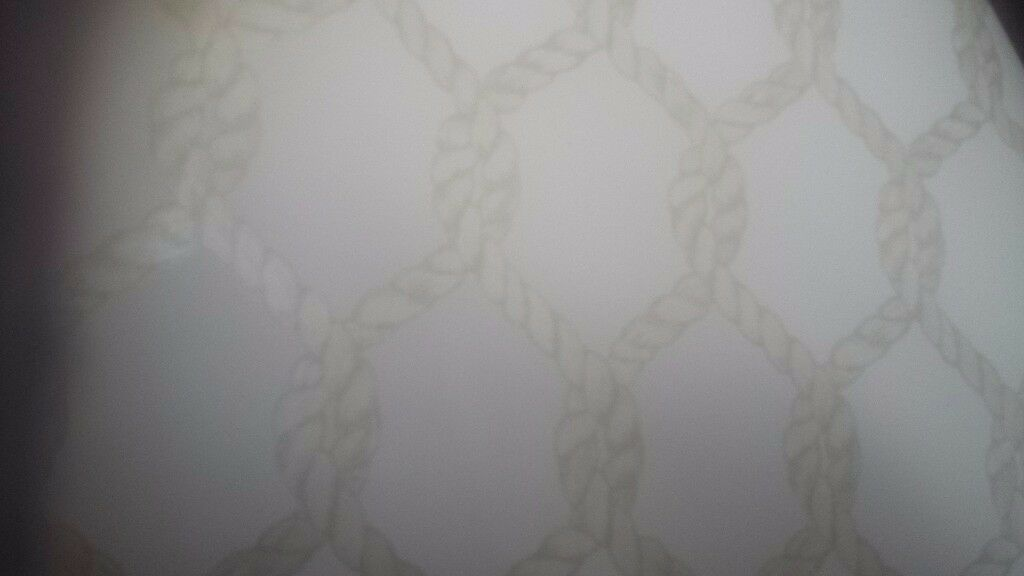 Rope design wallpaperin CaerphillyGumtree - I have 5 brand new rolls of a rope effect pattern wallpaper. ..photos dont show the shine of the pattern....all same batch number