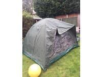 Tent with over wrap