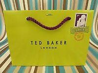 TED BAKER Green Gift Bag Carrier Bag Medium