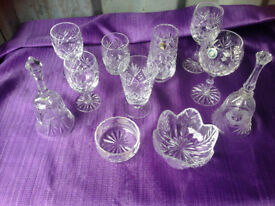 Lead Crystal glassware for wedding flowers Job Lot