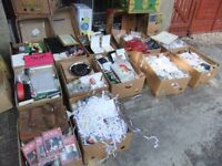 boxes of carboot items