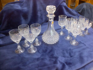 Beautiful set of vintage Crystal glasses and decanter