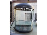 BOYU HALF MOON SHAPED FISH TANK INCLUDING ACCESSORIES £50.00 ONO
