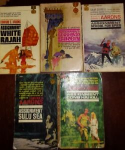 5 vintage EDWARD S. AARONS ASSIGNMENTS PAPERBACK BOOKS.