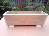 NEW FLOWER PLANTER, WOODEN TREATED,V-shape trough garden planter box. herb planter, many sizes