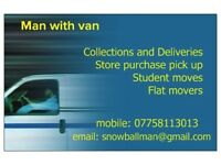 Man and Van removals and delivery service