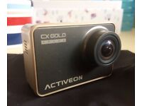 ACTIVEON CX Gold Plus Action Camera USED ONCE + SanDisk MicroSDHC 32GB Class10 Memory Card + Adapter