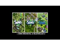 Sims 2,3,4 + Sims Medieval + Bejeweled 3