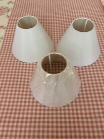Small white lampshades 3 matching