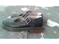 DR MARTENS STYLE MARY JANE BLACK TRACK COMFORT GOOD CONDITION SIZE UK5 LEITH