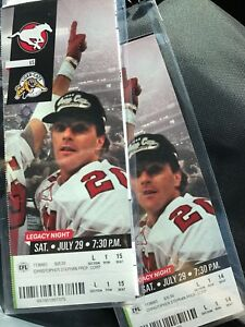 2 stampeders tickets for $25 each