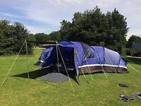 Sahara 6 tent with porch extension