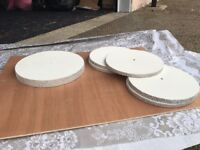 Wedding cake stand with 5 centre piece stands. All wooden
