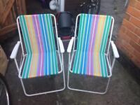 X2 garden chairs