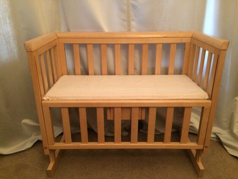 Troll Bedside Crib Natural Wood Baby Cot In Lambeth