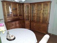 Corner Pine Cabinet (Wooden Cabinet)