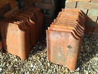 31 Reclaimed Single Roman Flat Pantile Red Clay Roof Tiles