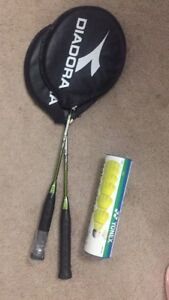 Badminton racket & badminton