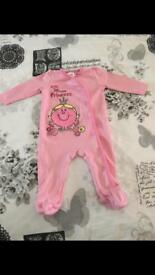 Mothercare little miss babygrow