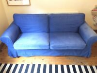 Used Blue Sofa Bed For Sale
