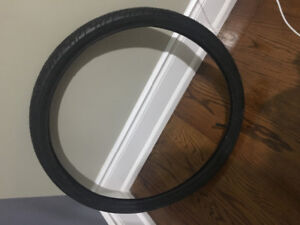 New tires that have only been used once professional tires with