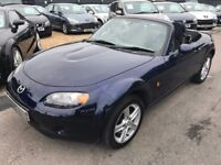 2007/07 MAZDA MX-5 1.8 2 DOOR,BLUE,LOW MILEAGE,SERVICE HISTORY,GREAT LOOKS + FUN TO DRIVE+RELIABLE