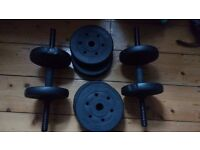 Weights - 15 kg in total, perfect condition, barely used.