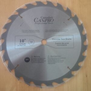 BRAND NEW 10 INCH 24 TOOTH MITER SAW & TABLE SAW BLADE