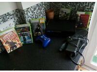 Xbox 360 120gb 5 games and controller...good condition