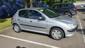 Peugeot 206 LX Silver, only 42,000 miles!!! Great condition and drives very well