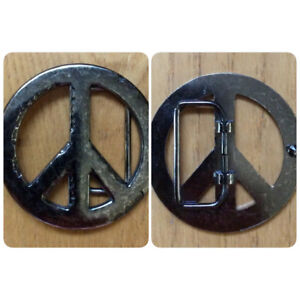 Peace Symbol Belt Buckle - St. Thomas