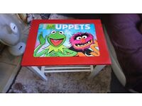 Disney muppets kermit and animal red and white table