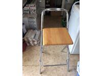 Folding bar stools x 3