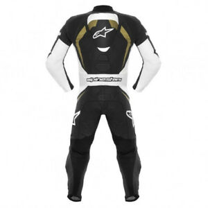 Alpinestars Motegi One-Piece Suit Black/White/Gold 48 Euro