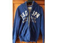 Superdry blue zip up hoody